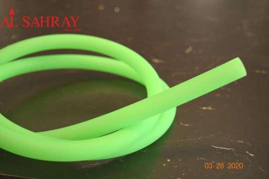 Silikonschlauch matt Grün  ca. 150cm