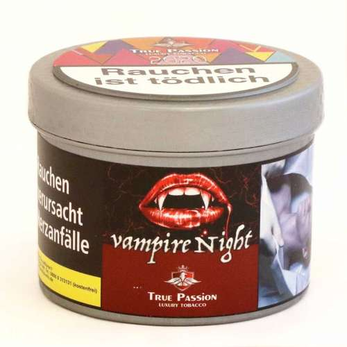True Passion Tabak Vampire Nights 200g Shot extra bestellen !