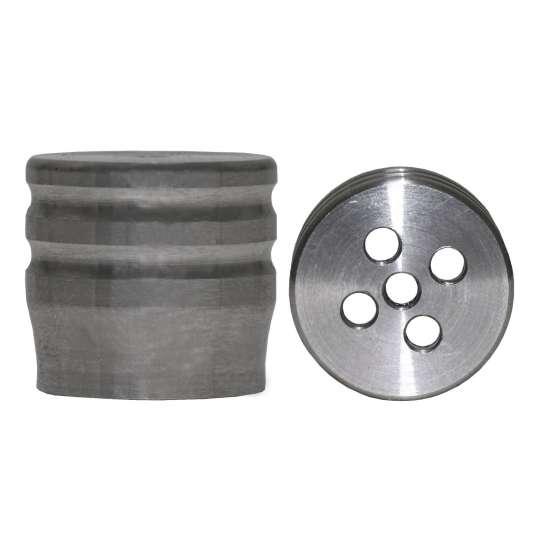 Ventilverschlusskappe - Stainless Steel (mit Löchern)