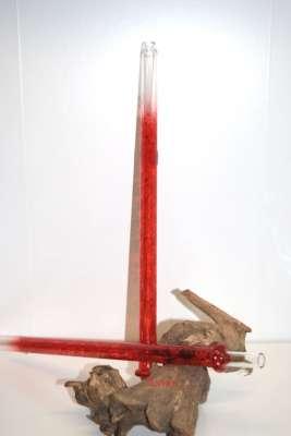 Caeser Glasmundstück Skull 42cm   Red