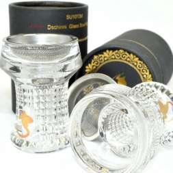 Dschinni Kristalkopf Glaskopf Nero Seflex