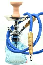 El Keyif Shisha Q7 Hell Blau inkl Zubehör