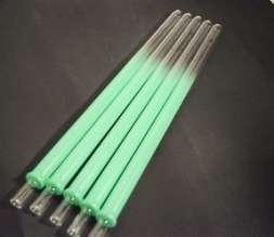 Glasmundstück Colored Devil Smoke- neon green - runde Öffnung
