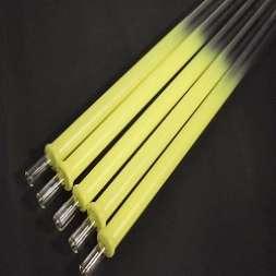 Glasmundstück Colored Devil Smoke - neon yellow - runde Öffnung